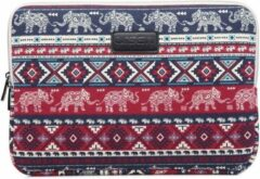 Lunso Lisen - laptop sleeve hoes 13 inch - Olifant rood