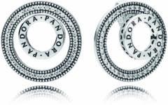 Pandora Forever Signature oorstekers van zilver met zirkonia 297446CZ