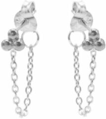 Karma Jewelry Karma Oorbellen Chain Triple Dots Zilver