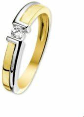 Quickjewels huiscollectie Huiscollectie 4205608 Bicolor gouden zirkonia ring