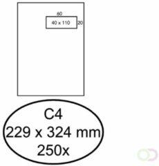 Bruna Envelop Hermes C4 229x324mm venster 4x11rechts zelfkl 250st