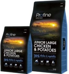 Wohi Profine Junior Large Breed Chicken & Potatoes 3kg/15kg Inhoud - 3 kg