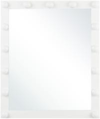 Witte Beliani Badkamerspiegel met LED-verlichting ODENAS