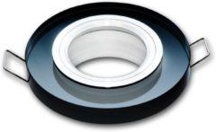 Groenovatie LED line Inbouwspot - Rond - GU5.3 Fitting - Glas - Ø 90 mm - Zwart