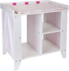 Angel Toys poppencommode junior 53 x 52 x 34 cm hout wit/roze