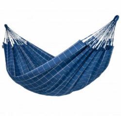 Marineblauwe Tweepersoons Klassieke Hangmat Outdoor Brisa Marine - LA SIESTA (BRH16-W3)