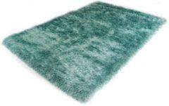 Turquoise Karpet24.nl Hoogpolig Glanzend Vloerkleed Blauw-160 x 230 cm