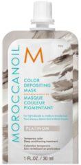 Moroccanoil Color Depositing Mask Platinum - verzorgend, uitwasbaar kleurmasker licht- tot mediumblond haar