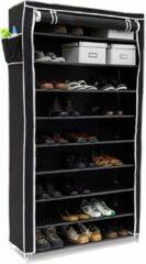 Zwarte MaxxHome - schoenenkast - 10 niveaus - 88x30x160cm