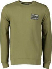 Groene Tommy Hilfiger Tommy Jeans Sweater - Slim Fit - Blauw - XL