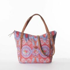 Rode Oilily City Rose Paisley Shopper Hot Coral