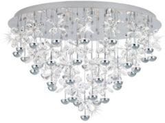 EGLO Pianopoli plafondverlichting Chroom, Transparant A+