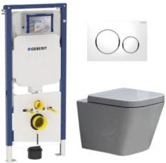 Douche Concurrent Geberit UP720 Toiletset - Inbouw WC Hangtoilet Wandcloset Rimfree - Alexandria Sigma-20 Wit