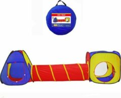 Rode Fuegobird spelen Speeltenten - Speeltent - 3 delige XL speeltent - Kruiptunnel - ballenbad - Speelhuis met Tunnel - Kruiprol