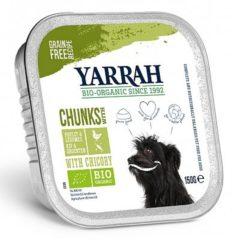 Yarrah Biologische Hondenvoer - Brokjes In Saus Glutenvrij - Kuipje - 150 gr