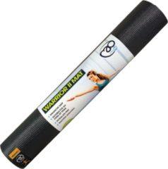 Grijze Fitness-Mad Warrior Yoga Mat (4mm) - Fitnessmatten