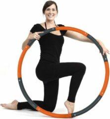 Weight hoop New Style - Fitness Hoelahoep - 1.4 kg - Ø 100 cm - Oranje/Grijs