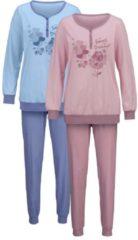 Schlafanzug Harmony rosenholz/jeansblau