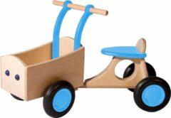 Van Dijk Toys Loop-bakfiets Loopfiets Met 4 Wielen Junior Lichtblauw