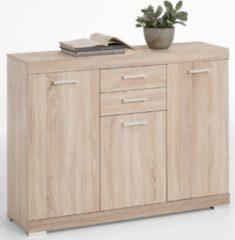 FD Furniture Dressoir Bristol 3 van 120 cm breed in eiken
