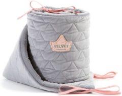 Roze La Millou Stootrand Hoofdbeschermer Bedbumper 60 X 120cm Dark Gray & Pink