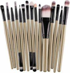 Elemental GOods 15 Delige Set - professionele Make-Upkwasten Set - Opmaken - Bruin Zwart - Makeup - Make-Upset