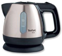 Zilveren TEFAL waterkoker Mini BI8125, 0,8 liter, 2200 W, edelstaal/zwart