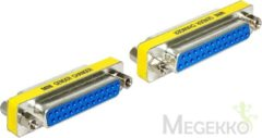 Blauwe DeLOCK kabeladapters/verloopstukjes Adapter Sub-D 25 pin female > female Gender Changer