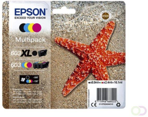 Afbeelding van Inkcartridge Epson 603 T03A9 zwart XL+ 3 kleuren