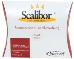 Witte Intervet Scalibor Protectorband - Maat S/M 48 cm