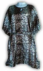 Bruine Merkloos / Sans marque Dames Nachtmode kimono Maat One Size