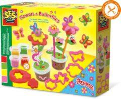 SES Creative klei geurende bloemen en vlinders junior multicolor