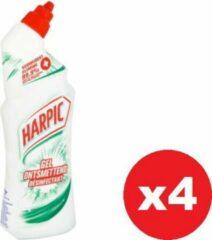 HARPIC Ontsmettende Gel Voor Toiletpotten - Verwijdert 99.9% Van De Bacterien - 750ml x 4