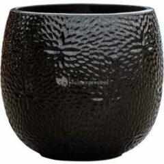 Ter Steege Pot Marly Black ronde zwarte bloempot voor binnen en buiten 30x28 cm