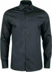 Overhemd heren - J. Harvest & Frost Black Bow - Strijkvrij.nl - Regular fit - Zwart