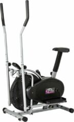 Zilveren TecTake Crosstrainer - 2-in-1 Crosstrainer / Hometrainer met LCD-display - 401716
