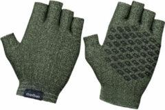 GripGrab Freedom Knitted Short Finger Handschoenen - Olijfgroen - Maat M/L