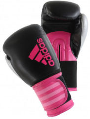 Adidas Hybrid 100 Dynamic Fit (Kick)Bokshandschoenen Zwart/Roze 6 oz