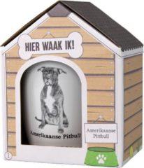 Witte Paper dreams Mok - Amerikaanse Pitbull – Dier – Puppy – Hond – Dieren – Mokken en bekers – Keramiek – Mokken - Porselein - Honden – Cadeau - Kado