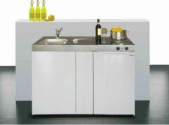 Witte Stengel keukenblok Easyline ME120 met Techwood koelkast