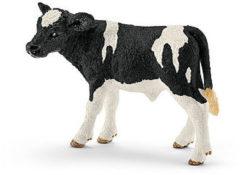 Witte Schleich Zwartbond kalf 13798 - Koe Speelfiguur - Farm World - 7,5 x 3,8 x 5 cm