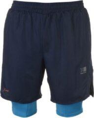 Donkerblauwe Karrimor 2 in 1 Runningshort sportbroek - maat XL - Heren - Donker blauw