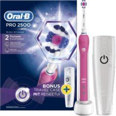 Roze Oral-B Pro 2500 3D White Pink (+ gratis reisetui) elektrische tandenborstel