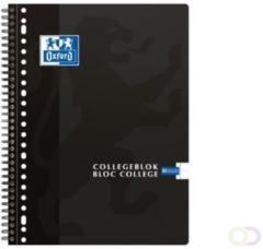 Oxford collegeblok voor ft A4+, 160 bladzijden, 23-gaatsperforatie, gelijnd, zwart
