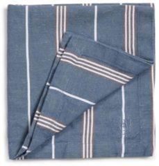Blauwe Marc O'Polo Marc O' Polo servet Jona 45x45 smoke-blue