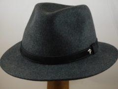Antraciet-grijze Panizza wolvilt hoed 'Potenza' / grijs maat 56