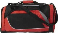 Merkloos / Sans marque Rood met zwarte sporttas/reistas 45 liter - Sporttassen - Weekendtassen - Voetbaltassen