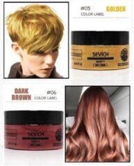 Donkerbruine Sevich Professionele en Kwalitatieve Haarverf - Tijdelijke Haarkleur - Haar Wax - Haircoloring Wax - Uitwasbaar - 100% Natuurlijke Ingredienten - Donker Bruin