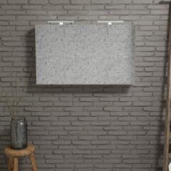 Zaro Beam Spiegelkast 120x70x16cm wit marmer 2 deuren