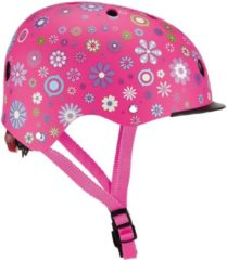 Roze Globber kinderhelm Elite Lights Pink Flowers